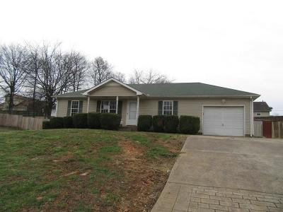 Christian County, Ky, Todd County, Ky, Montgomery County Single Family Home Under Contract - Not Showing: 3256 N Senseney Cir