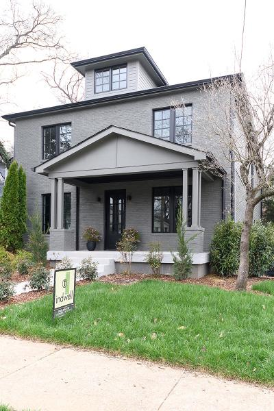 Nashville Single Family Home Under Contract - Showing: 1009 Villa Pl