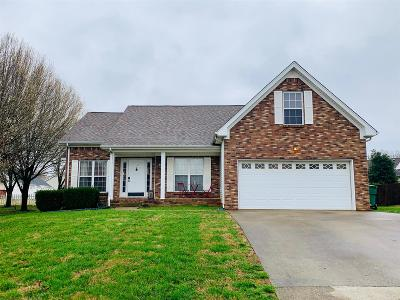 Clarksville Single Family Home Under Contract - Not Showing: 3394 Poplar Hill