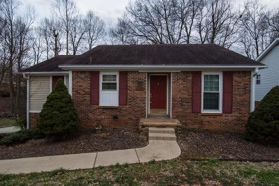 Clarksville Single Family Home Under Contract - Not Showing: 2190 Ladd Dr