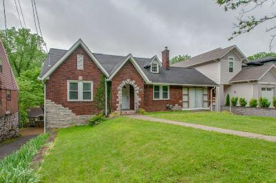 Nashville Single Family Home Active Under Contract: 3207 Acklen Ave