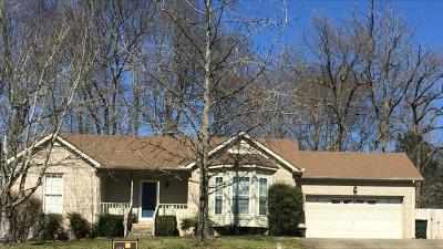 Robertson County Rental Under Contract - Not Showing: 5059 Appalachain Drive
