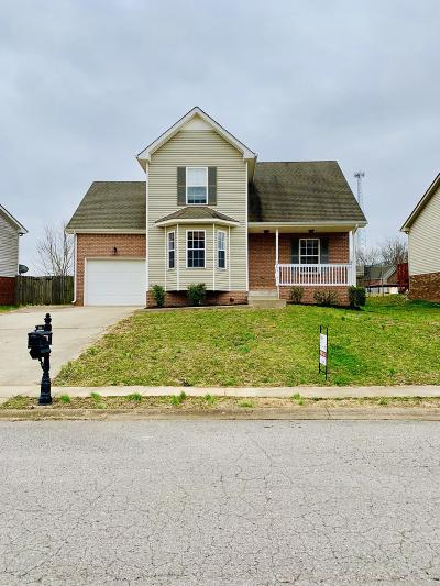 Clarksville Single Family Home Under Contract - Not Showing: 2566 Centerstone Cir