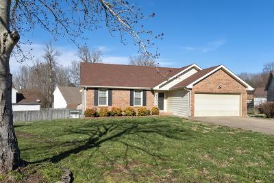 Clarksville Single Family Home Under Contract - Not Showing: 286 Kathleen Ct