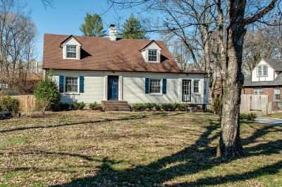 Nashville Single Family Home For Sale: 932 Battlefield Dr