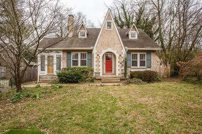 Nashville Single Family Home Under Contract - Not Showing: 1027 Belvidere Dr