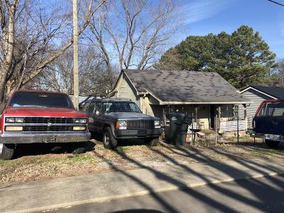 Springfield TN Single Family Home For Sale: $49,900