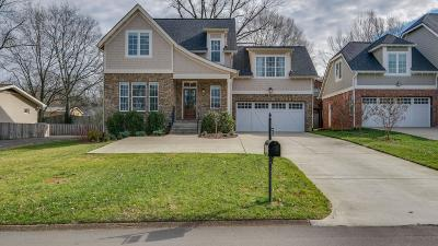 Nashville TN Single Family Home For Sale: $607,000