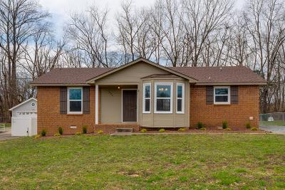 Clarksville Single Family Home Under Contract - Not Showing: 1840 Palamino Dr