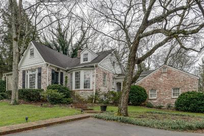Nashville Single Family Home For Sale: 3819 Harding Pl
