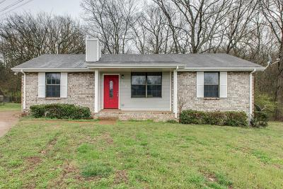 Nashville Single Family Home For Sale: 212 Trailway Cir
