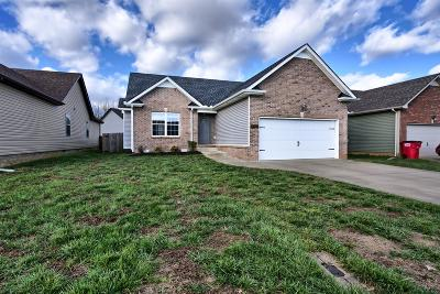 Clarksville Single Family Home Under Contract - Not Showing: 841 Shelton Cir