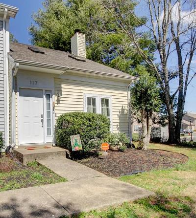 Clarksville Condo/Townhouse Under Contract - Not Showing: 117 Carriage Pl