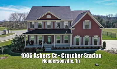 Hendersonville Single Family Home For Sale: 1005 Ashers Ct