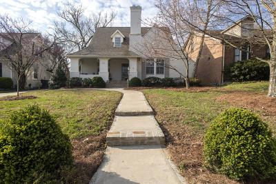 Nashville Single Family Home Under Contract - Showing: 2805 Acklen Ave