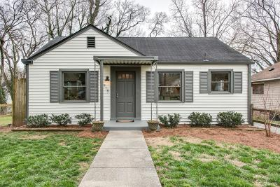 Nashville Single Family Home Under Contract - Showing: 918 W Eastland Ave