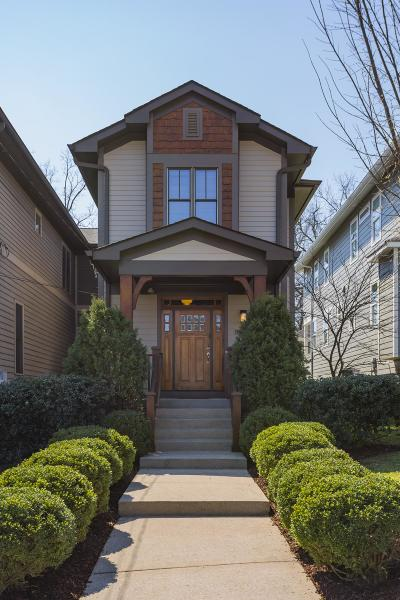 Nashville Single Family Home For Sale: 1015 B West Grove Ave