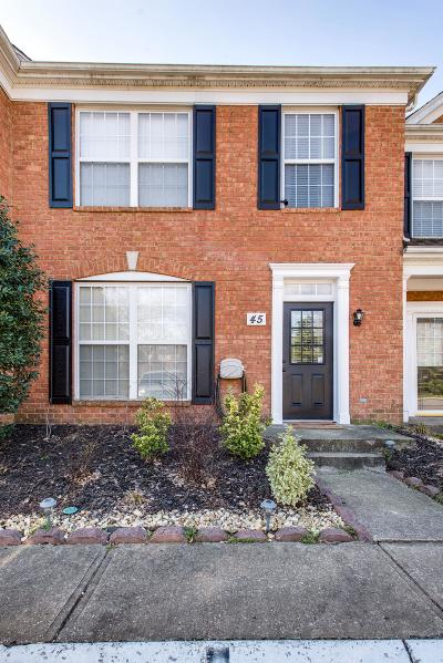 Brentwood Condo/Townhouse For Sale: 601 Old Hickory Blvd Unit 45