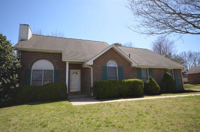 Clarksville Single Family Home Under Contract - Not Showing: 275 Cheshire Rd
