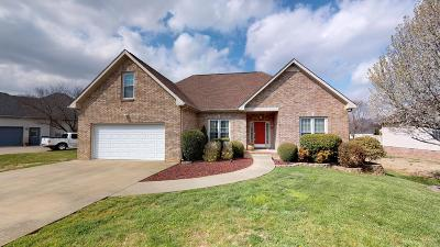 Clarksville Single Family Home Under Contract - Not Showing: 3805 Benjamin Dr