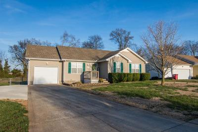 Clarksville TN Single Family Home For Sale: $146,500