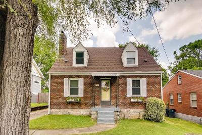 East Nashville Single Family Home Under Contract - Showing: 3707 Burrus St