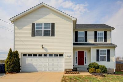 Clarksville TN Single Family Home Under Contract - Not Showing: $199,900