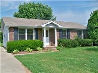 Clarksville TN Single Family Home For Sale: $99,900