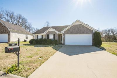 Murfreesboro Single Family Home Under Contract - Not Showing: 639 Buck Cherry Way