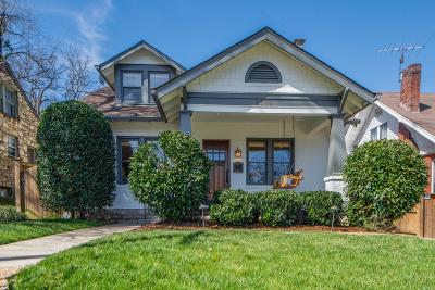 Nashville Single Family Home Under Contract - Showing: 2011 18th Ave S