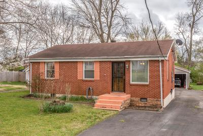 Nashville Single Family Home Under Contract - Showing: 91 Elberta St