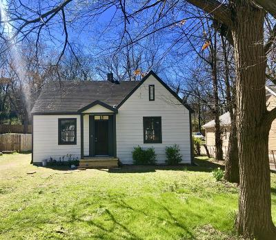 Nashville Single Family Home For Sale: 806 Petway Ave