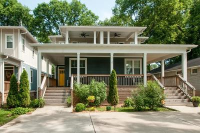 East Nashville Single Family Home For Sale: 1715 A Straightway Ave