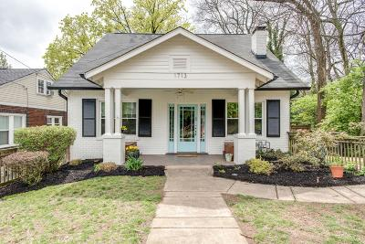 Nashville Single Family Home Under Contract - Showing: 1713 Gale Ln