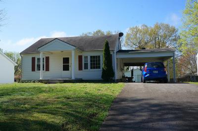 Clarksville Single Family Home Under Contract - Not Showing: 1650 Vista Ln