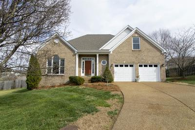 Mount Juliet Single Family Home For Sale: 2006 Oakhall Ct