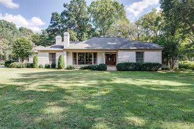 Nashville Single Family Home For Sale: 6101 Jocelyn Hollow Rd