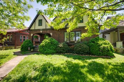 Nashville Single Family Home Under Contract - Showing: 1012 Maxwell Avenue