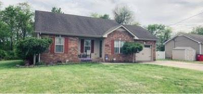Christian County, Ky, Todd County, Ky, Montgomery County Single Family Home Under Contract - Not Showing: 1272 Silver Star Dr