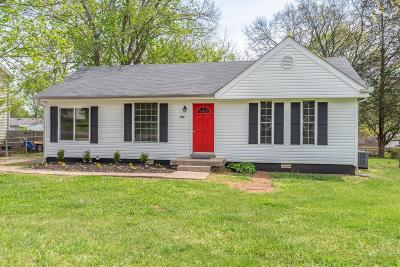 Smyrna Single Family Home For Sale: 302 Custer Ct