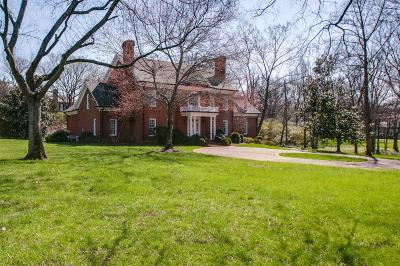 Nashville Single Family Home Under Contract - Showing: 618 Belle Meade Boulevard