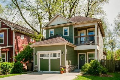 Nashville Single Family Home Under Contract - Showing: 1308 Chester Ave