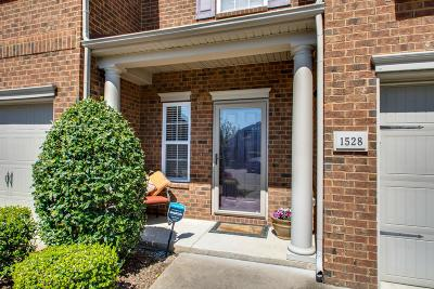 Nashville Condo/Townhouse For Sale: 1528 Hamden Drive