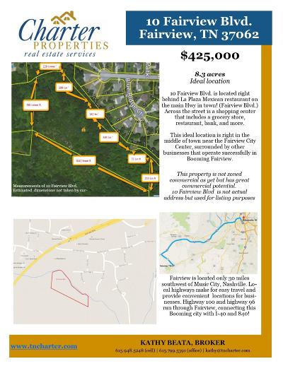 Williamson County Residential Lots & Land For Sale: 10 Fairview Blvd