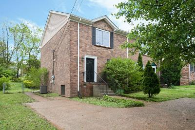 Nashville Condo/Townhouse For Sale: 366 Clearwater Dr