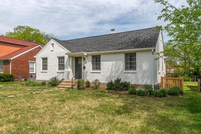 Nashville Single Family Home Under Contract - Showing: 2602 Acklen Avenue