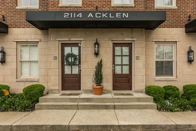 Nashville Condo/Townhouse For Sale: 2114 Acklen Ave Apt 308