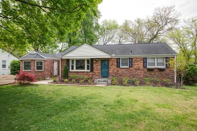 Nashville Single Family Home Under Contract - Not Showing: 503 Brentlawn Dr