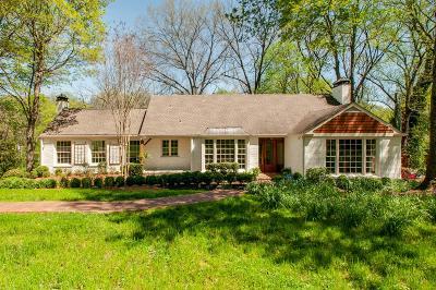 Belle Meade Single Family Home For Sale: 408 Sunnyside Dr