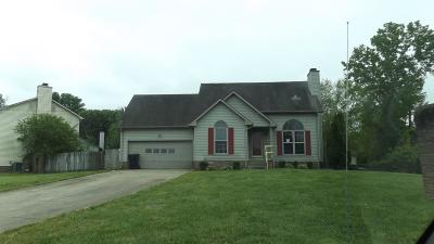 Christian County, Ky, Todd County, Ky, Montgomery County Single Family Home Under Contract - Not Showing: 2134 Singletree Dr